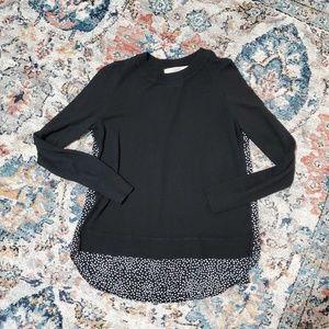 LOFT mixed media sweater.